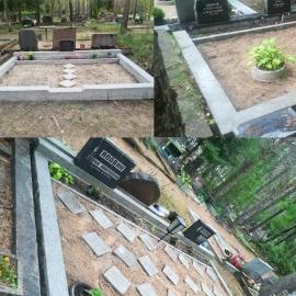 ( Rahumäe Kalmistu) на 3 места Чистка оградок