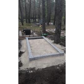 Ограда из бетона с гранитной крошкой  на 1 место (без фундамента)