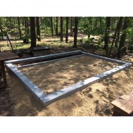 3 места - Ограда без фундамента - Полированный бетон
