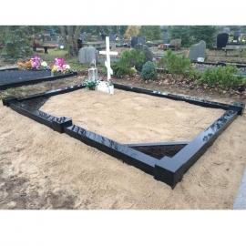 чёрного цвета на 3 места - Ограда из карельского камня