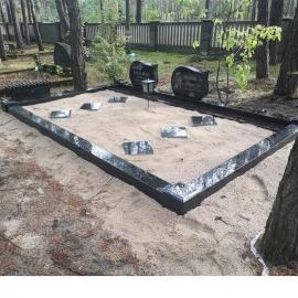 Graniit piiri (urnid) 125x125x10 cm